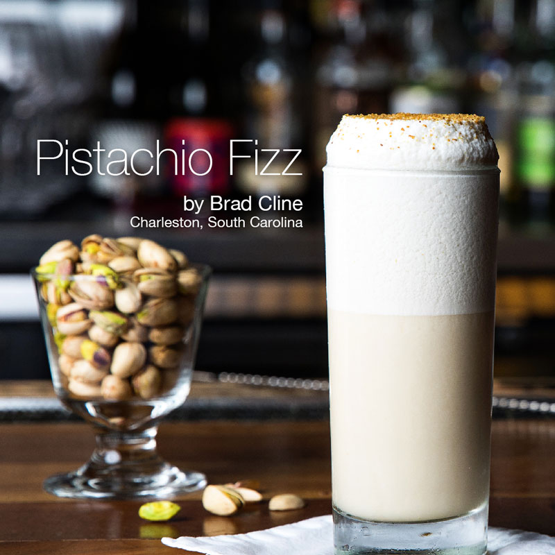Holiday Cocktails - Pistachio Fizz