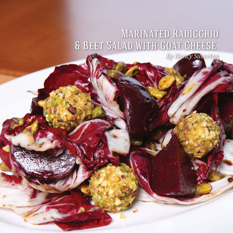 Holiday Recipes - Marinated Radicchio Beet Salad and Goat Cheese