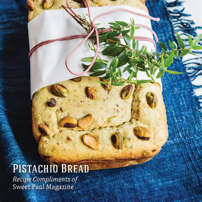 Holiday Recipes - Pistachio Bread