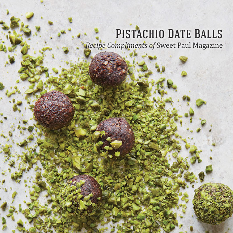 Holiday Recipes - Pistachio Date Balls