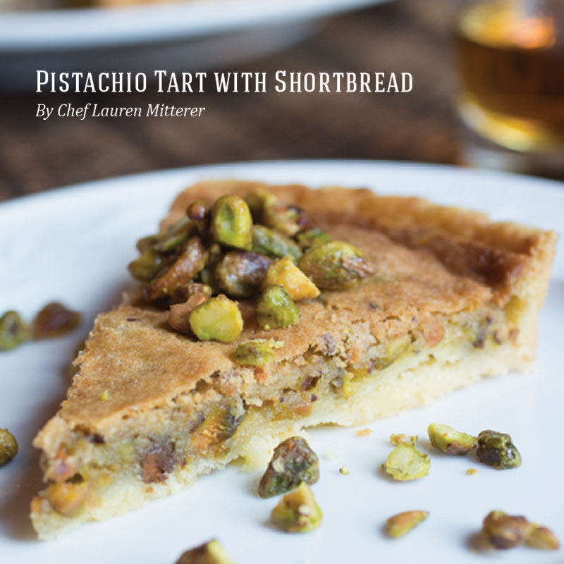 Holiday Recipes - Pistachio Tart with Shortbread