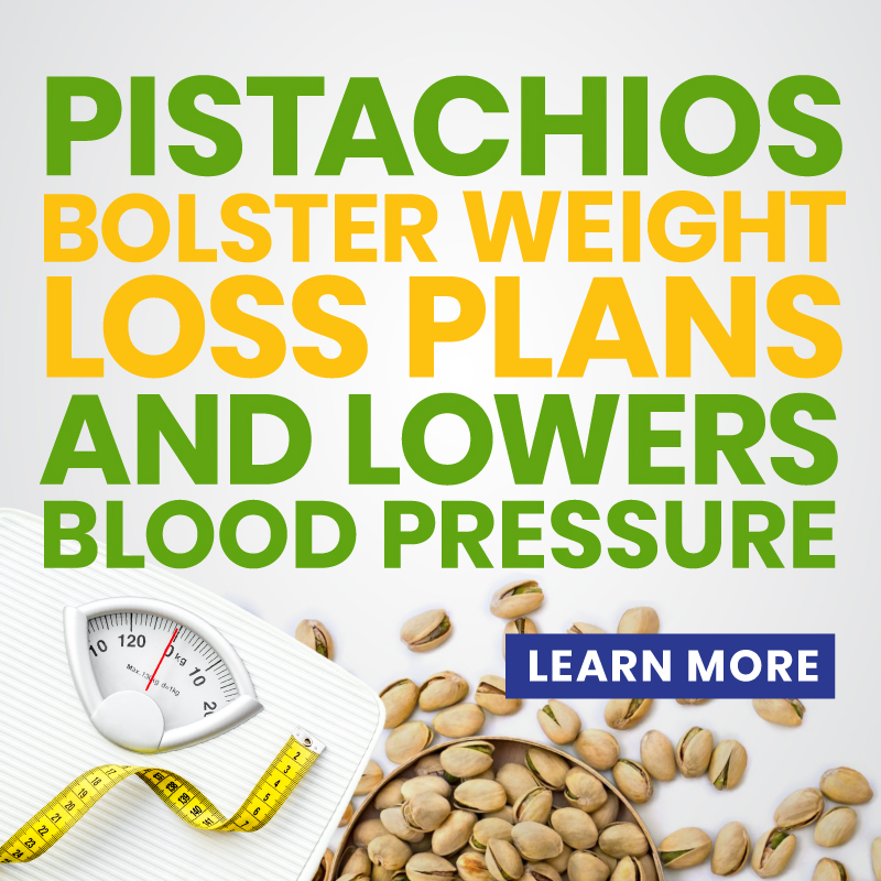 Pistachios Bolster Weight Loss