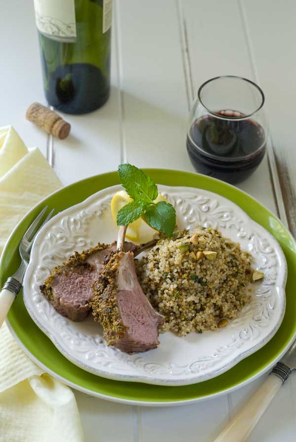 Pistachio Mint Crusted Rack of Lamb