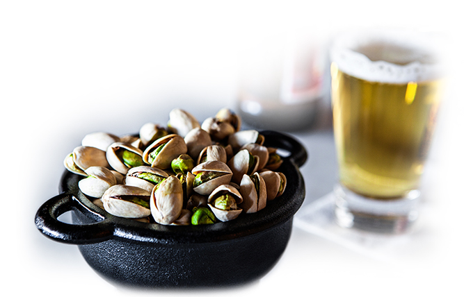 Pairing beer and pistachios