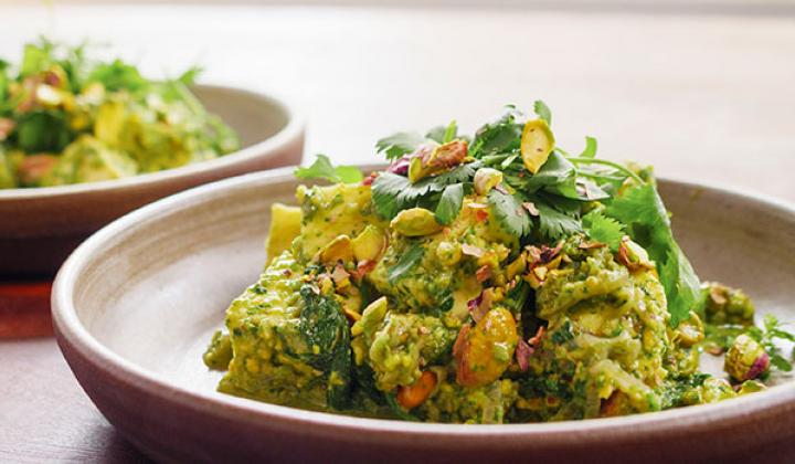 Chutney Paneer with California Pistachios