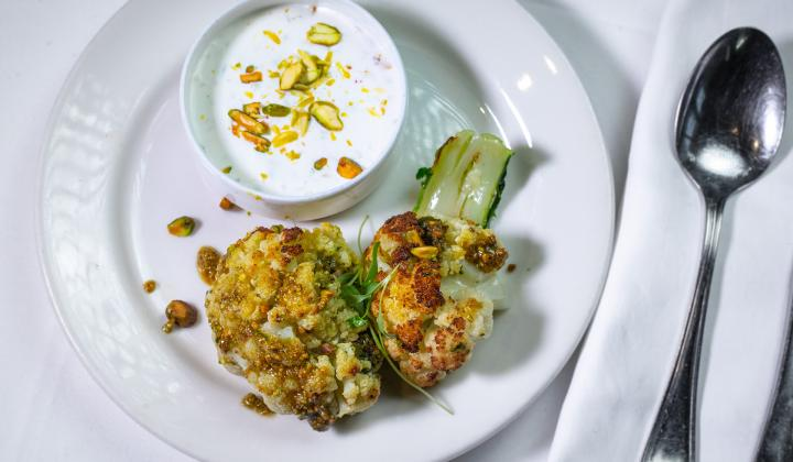 Roasted Cauliflower with Pistachios